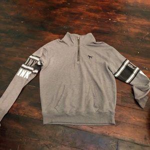 V.S. Pink part zip up sweater